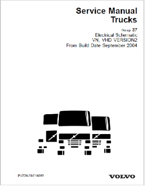 Sept. 2004 - Up Volvo VN VHD Truck Complete Electrical Wiring Diagrams