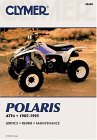 1985 - 1995 Polaris ATVs, All 3, 4 & 6 Wheel Drive Models Clymer ATV Service, Repair, Maintenance Manual