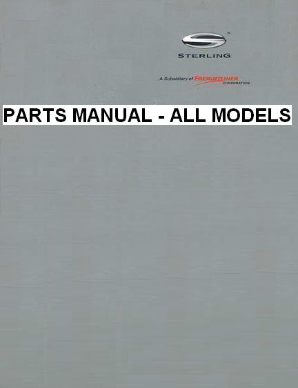 Sterling Factory Parts Manual - All Models