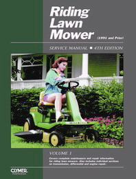 1992 and Earlier Riding Lawn Mower Clymer Service Manual, Vol. 1