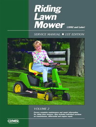 1992 - 2000 Riding Lawn Mower Clymer Service Manual, Vol. 2