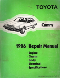 1986 Toyota Camry Factory Service Manual