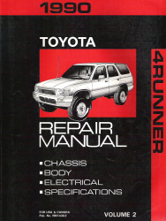 1990 Toyota 4Runner Factory Service Manual - Volume 2