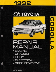 1992 Toyota Corolla Factory Service Manual