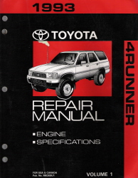 1993 Toyota 4Runner Factory Service Manual - 2 Vol. Set