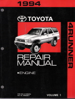 1994 Toyota 4Runner Factory Service Manual - 2 Vol. Set