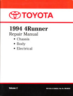 1994 Toyota 4Runner Factory Service Manual - Volume 2