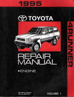 1995 Toyota 4Runner Factory Service Manual - 2 Volume Set