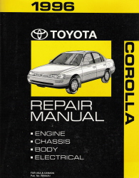 1996 Toyota Corolla Factory Service Manual