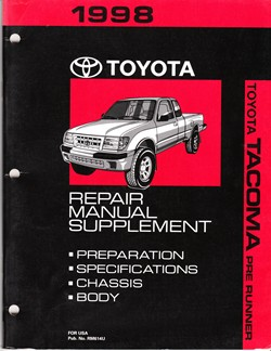 1998 Toyota Tacoma 4 Runner Factory Repair Manual Supplement