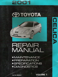 2001 Toyota Celica Factory Repair Manual - 2 Volume Set