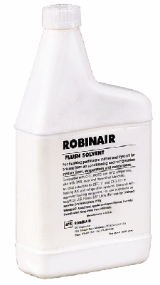 Robinair Power Flush Solvent- Six 1-Quart Bottles
