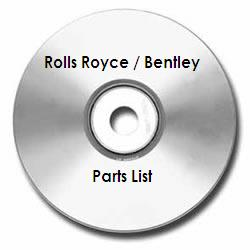 Rolls-Royce Silver Shadow / T Type Parts List Technical Manual on CD-ROM