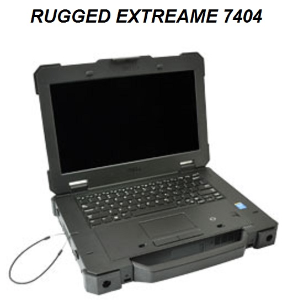 Dell 7404 Rugged Extreame W8.1 i5-2.6GHZ 500GB-SSD 16GB RAM 4G Bluetooth Touch