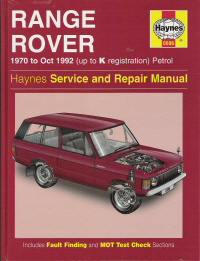 1970 - 1992 Range Rover Gasoline Engine Haynes Repair Manual