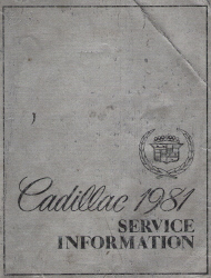 1981 Cadillac Factory Service Information