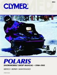 1990 - 1995 Polaris Snowmobile Clymer Repair Manual