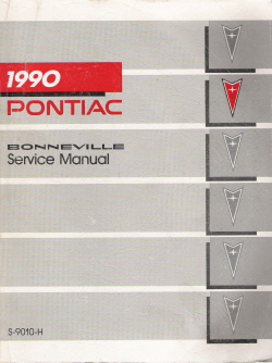 1990 Pontiac Bonneville Factory Service Manual