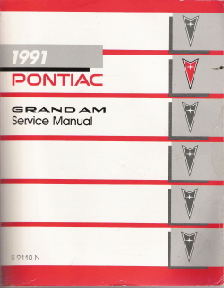 1991 Pontiac Grand Am Factory Service Manual