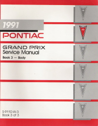 1991 Pontiac Grand Prix Body Service Manual