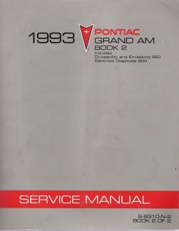 1993 Pontiac Grand Am Factory Service Manual - 2 Volume Set