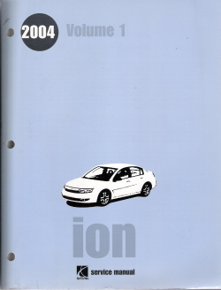 2004 Saturn Ion Factory Service Manual - 3 Volume Set