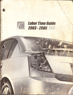 2003 - 2005 Saturn Ion Labor Time Guide