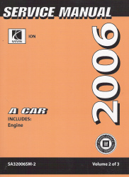 2006 Saturn Ion Factory Service Manual - 3 Volume Set