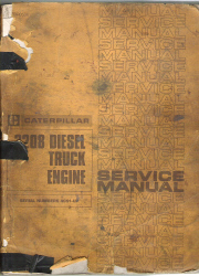 Caterpillar 3208 Diesel Truck Engine Service Manual Serial Numbers 40S1-UP