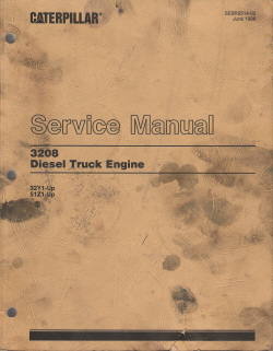 Caterpillar 3208 Diesel Truck Engine Service Manual 32Y1-Up & 51Z1-Up