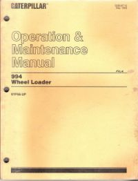 Caterpillar 944 Wheel Loader Factory Operation & Maintenance Manual Serial Numbers 9YF56-UP