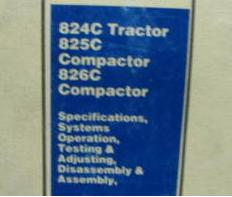 Caterpillar 824C Tractor, 825C & 826C Compactors Factory Service Manual Serial Numbers 85X1-Up, 86X1-Up & 87X1-Up