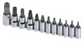 "12-Piece 1/4"" & 3/8"" Drive Tamper-Proof TORX Bit Set"