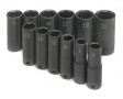 "12-Piece 3/8"" Drive 6-Point Deep Metric Impact Socket Set"