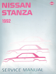 1992 Nissan Stanza Factory Service Manual