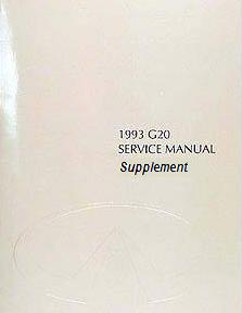 1993 Infiniti G20 Service Manual Supplement for Face-Lifted Models