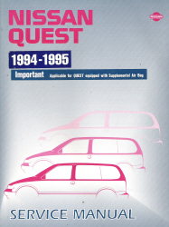 1994 - 1995 Nissan Quest Factory Service Manual