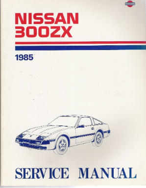 1985 Nissan 300ZX Factory Service Manual