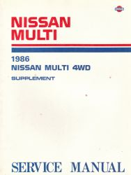 1986 Nissan Multi M10 Series Factory 4WD Manual Supplement
