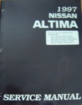 1997 Nissan Altima Factory Service Manual
