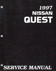 1997 Nissan Quest Factory Service Manual