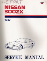 1987 Nissan 300ZX Factory Service Manual