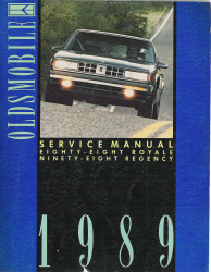 1989 Oldsmobile Eighty-Eight Royale and Ninety-Eight Regency Factory Service Manual