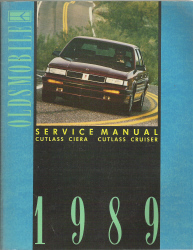 1989 Oldsmobile Cutlass, Ciera, Cutlass and Cruiser Factory Service Manual