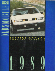 1989 Oldsmobile Cutlass Factory Service Manual