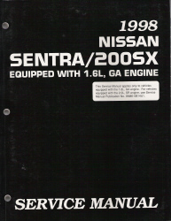 1998 Nissan Sentra/200SX Factory Service Manual
