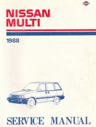 1988 Nissan Multi M10 Series Factory Service Manual