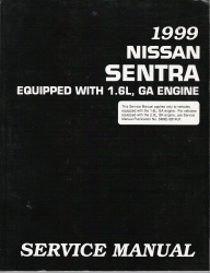 1999 Nissan Sentra Factory Service Manual
