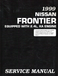 1999 Nissan Frontier 2.4L, KA Engine Factory Service Manual