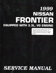 1999 Nissan Frontier 3.3L, VG Engine Factory Service Manual